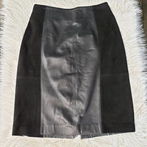 Ivonne Difusion Genuine Leather Skirt Size 40